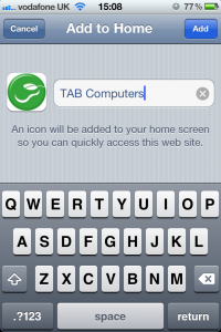 TAB Computers Name app