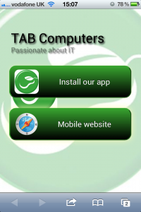 TAB Computers - Install our App